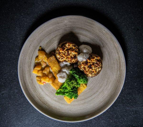 Hauptgang (vegetarisch) - Portobello gefüllt