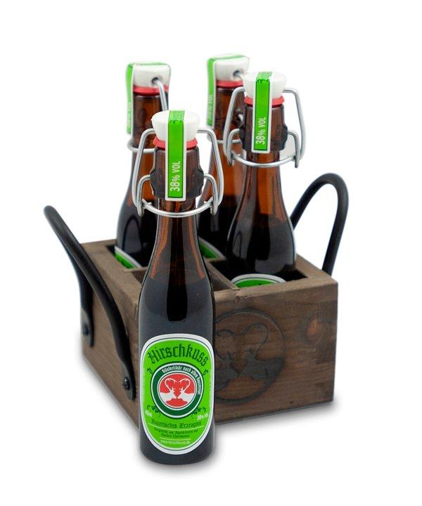 Hirschkuss Holzträger (befüllt)